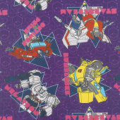 Transformers - Geo in Purple Yardage