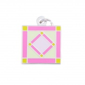 Square In A Square Charm Pink by Pin Peddlers