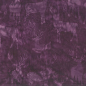 Snowberry Batiks - Deer Grouping Amethyst Yardage