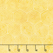 Clockworks Batiks - Hexagon Honey Yardage