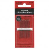 Richard Hemming Large Eye Sewing Needles - Milliners (Size 9)