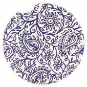Indigo Patterns Car Coaster - Paisley