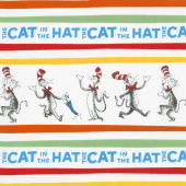 The Cat in the Hat 4 - Cat Poses Celebration Yardage
