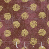 Grunge Hits the Spot - Burgundy Metallic Yardage