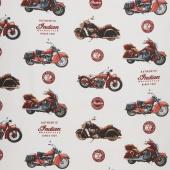 Indian Motorcycle - Main Cream Yardage