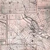 Dapper - Street Maps Black Yardage