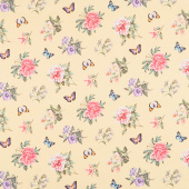 Botanica - Small Floral Toss Yellow Multi Digitally Printed Yardage