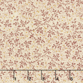"108"" Quilt Back - Berry Vine Burgundy 108"" Wide Backing"