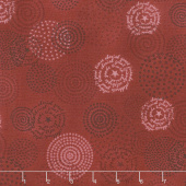 Tickled Pink - Circles Red Yardage