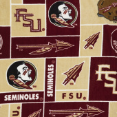 Fleece College - Florida State Seminoles Garnet Yardage