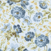 English Countryside - Focal Floral Light Blue Yardage