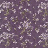 Sweet Violet - Violet Spray Violet Yardage