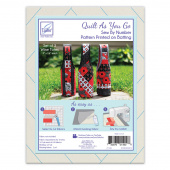 Wine Totes Quilt As You Go Preprinted Batting