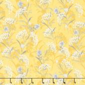 Marguerite - Button Flower Goldenrod Yardage