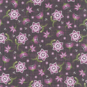 Amour - Stylized Floral Deep Plum Yardage