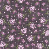 Amour - Stylized Floral Deep Plum Yardage
