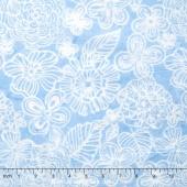 Tonga Batiks - Indigo Dreams Magic Garden Breeze Yardage
