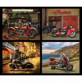 Indian Motorcycle - Pillow Digitally Printed Panel