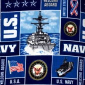 Fleece Licensed - Military Navy Blue Yardage