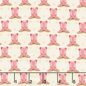 Howdy - Boots Porcelain Pink Yardage