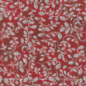Winter's Grandeur 7 - Scarlet Leaves Metallic Yardage