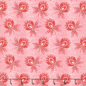 Sweet Sixteen - Ombre Large Bud Red Yardage