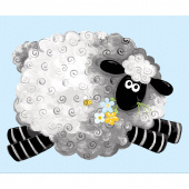 Lewe the Ewe - Sheep Play Mat Blue Panel