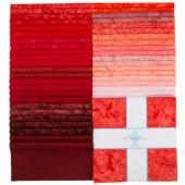 "Lava Batik Solids - Lipstick 10"" Squares"