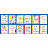 Emelia's Dream - Inspirational Blocks Blue Panel