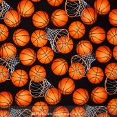 Sports - Basketball & Hoops Black Yardage