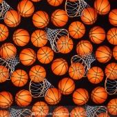 Sports - Basketball & Hoops Black Yardage