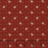 Faded Memories - Faded Flower Red Yardage