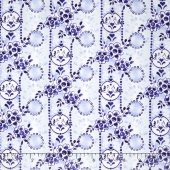 Daisy Blue - Charm and Chirp Porcelain Yardage