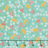 Cultivate Kindness - Flower Field Vintage Aqua Yardage