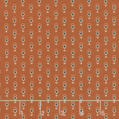Cheddar & Chocolate - Ditsy Diamond Rust Yardage