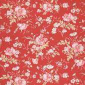 Sweet Sixteen - Main Floral Red Yardage