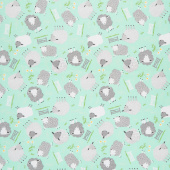 Comfy Flannel® - Sheep Mint Yardage