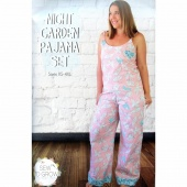 Night Garden Pajama Set Pattern