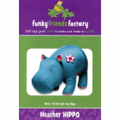 Heather Hippo Funky Friends Factory Pattern