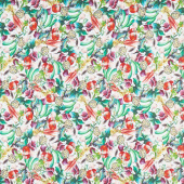 Blissful Bounty - Mixed Vegetables Tossed Multi Digitally Printed Yardage