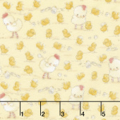 Cotton Tale Farm - Chickens & Chicks Yellow Flannel Yardage