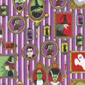 Haunted House - Main Purple Yardage