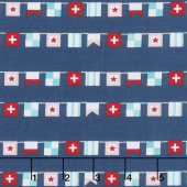 Seaside - Flags Navy Yardage