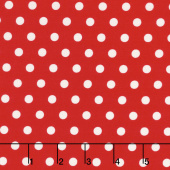 Harry & Alice - Dot Red Yardage
