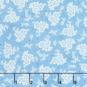 Homemade Happiness - Floral Allover Teal Yardage