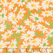 Fresh as a Daisy - Daisies Orange Yardage