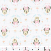 Cotton Muslin - Minnie Wildflowers Pink Yardage