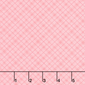 A Country Weekend - Diagonal Plaid Coral Yardage