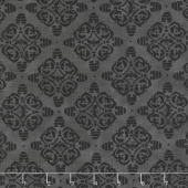 Bee Joyful - Bee Hive Damask Ebony Yardage