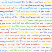 Oh the Places You'll Go - Text Bright Yardage
